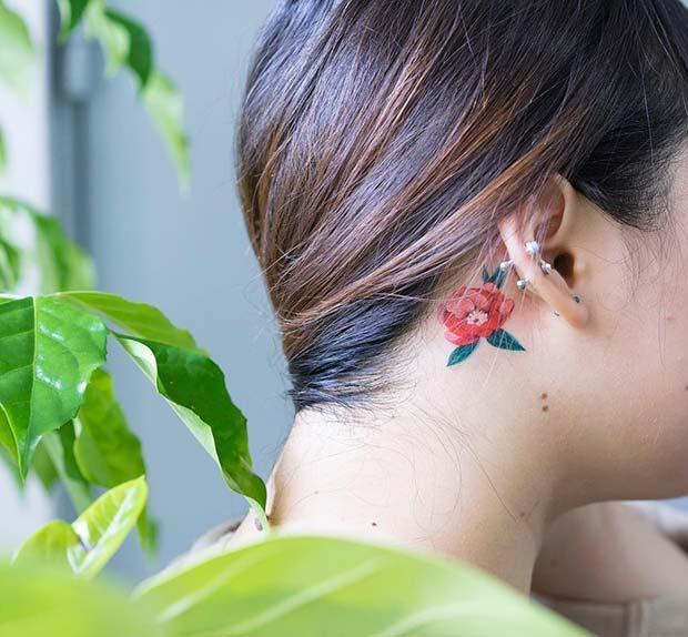 Gorgeous Floral Tattoo Design