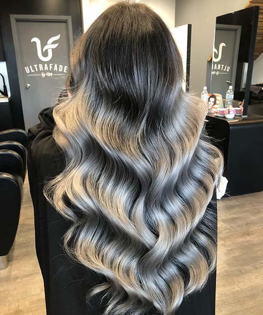 Gorgeous Grey Ombre Hair