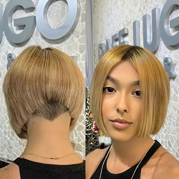Honey Blonde Bob Haircut