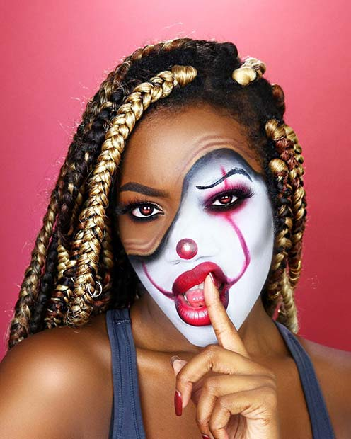 Illusion Half Clown Makeup