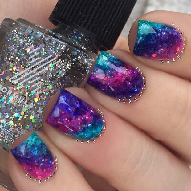 Intergalactic Unicorn Nails
