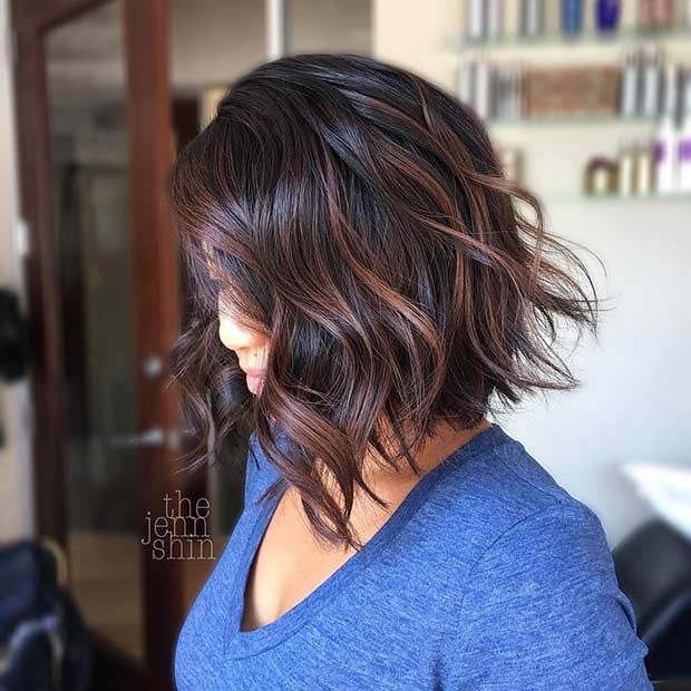 Layered Short Bob with Highlights