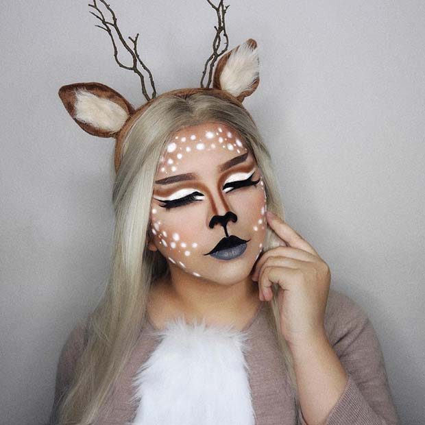 Magical Deer Makeup Idea