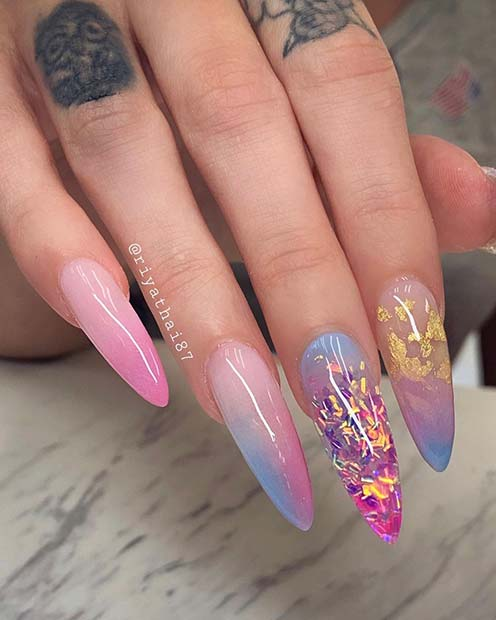 Magical Mermaid Inspired Nails