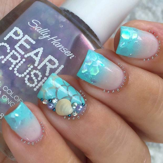 Beach and Ocean Inspired Nails