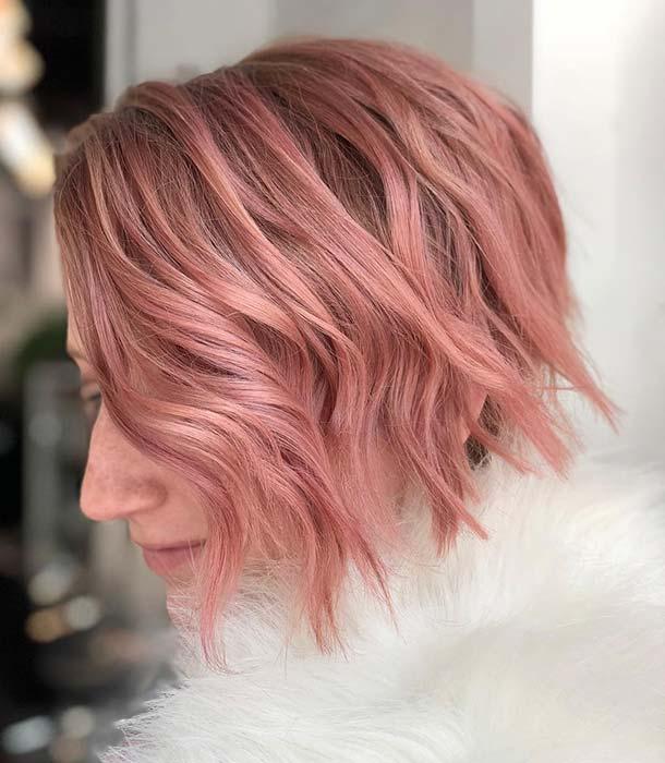 Pastel Pink Short Hairstyle