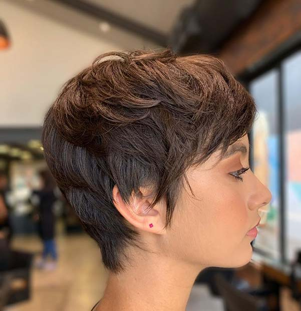 Pixie Cut with a Boho Vibe