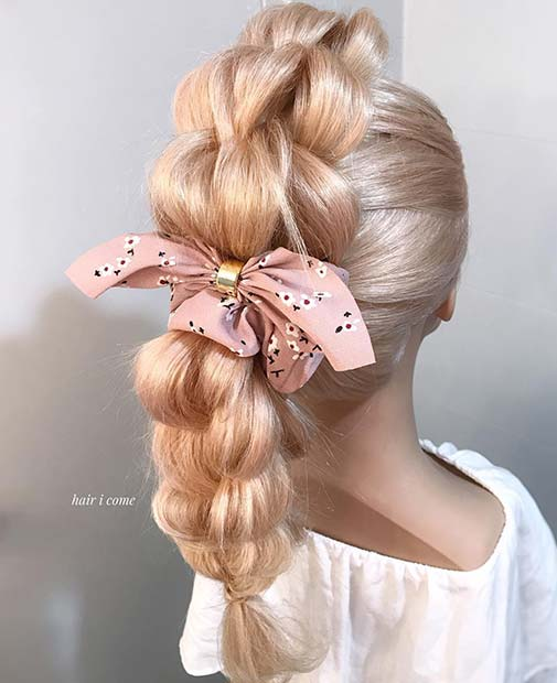 Pretty Braided Style with a Bow