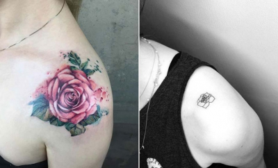 Rose Shoulder Tattoo Ideas