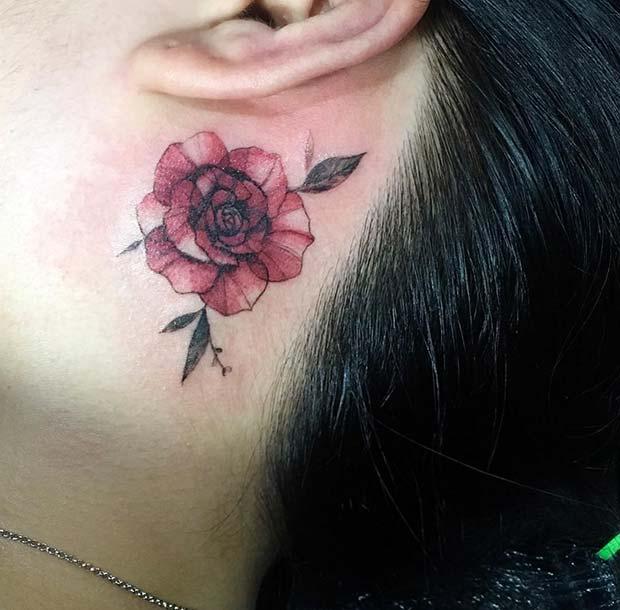 Red Rose Tattoo Idea