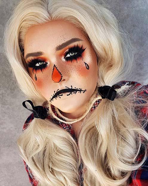 Sad Scarecrow Makeup Idea
