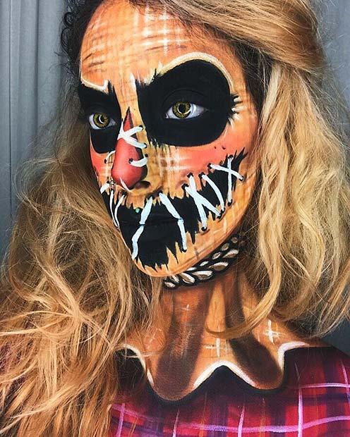 Scary Illusion Makeup Idea