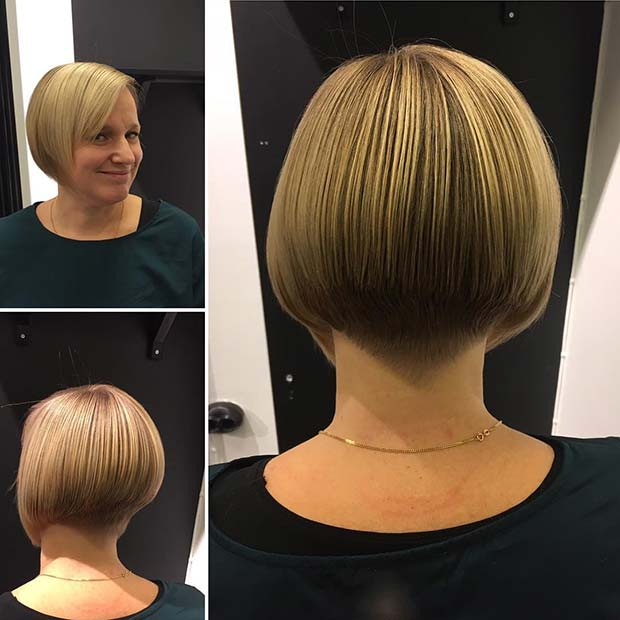 Layered Bob with an Undercut