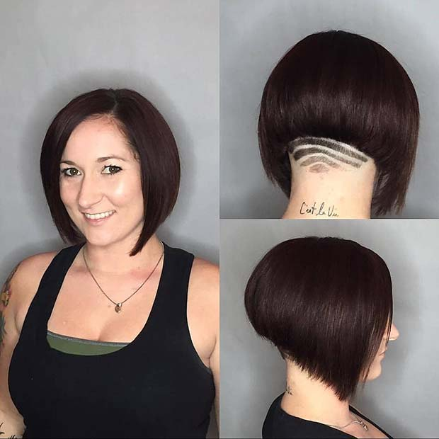 Short Inverted Bob with an Undercut