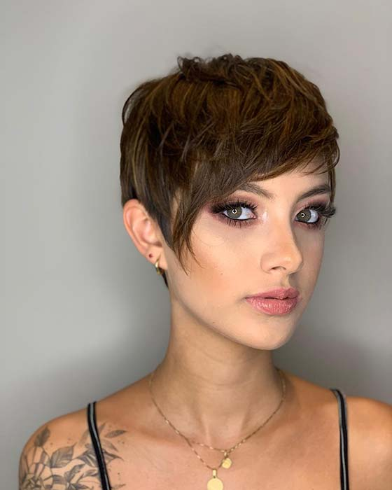 Short Hair with an Asymmetric Cut