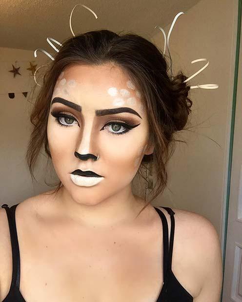 25 Deer Makeup Ideas for Halloween 2019