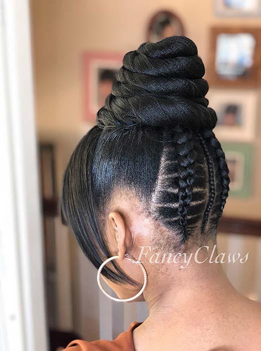 Sleek and Braided Hair Idea