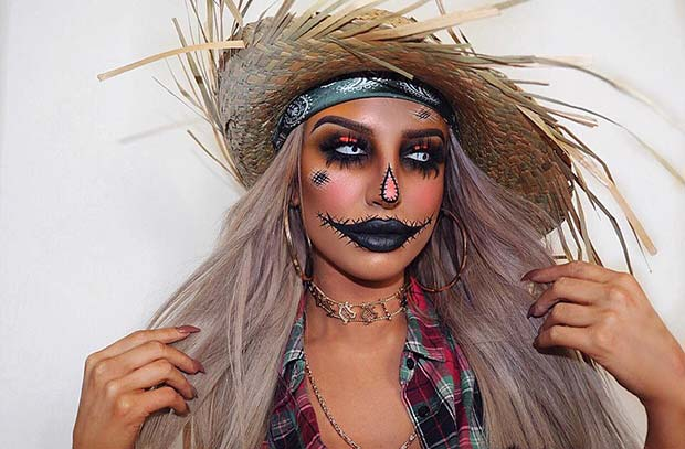 Spooky Scarecrow Makeup and Costume