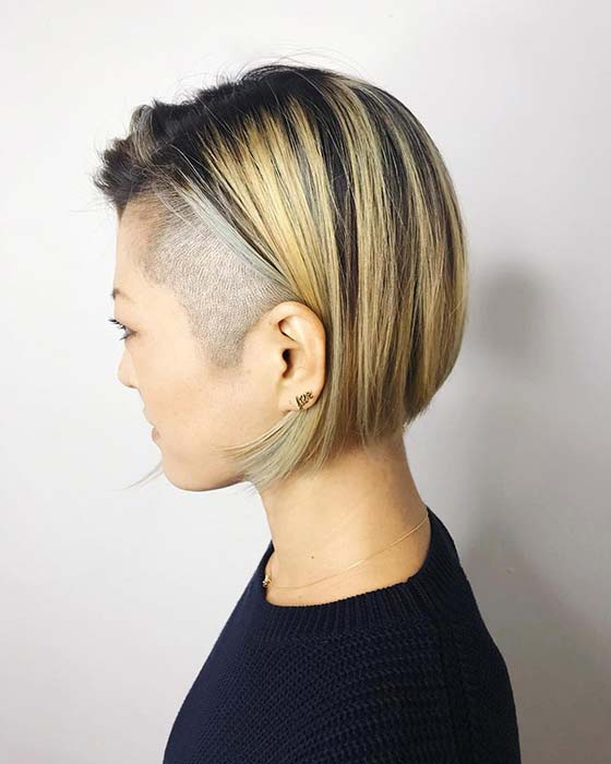 Statement Undercut with Highlighted Bob