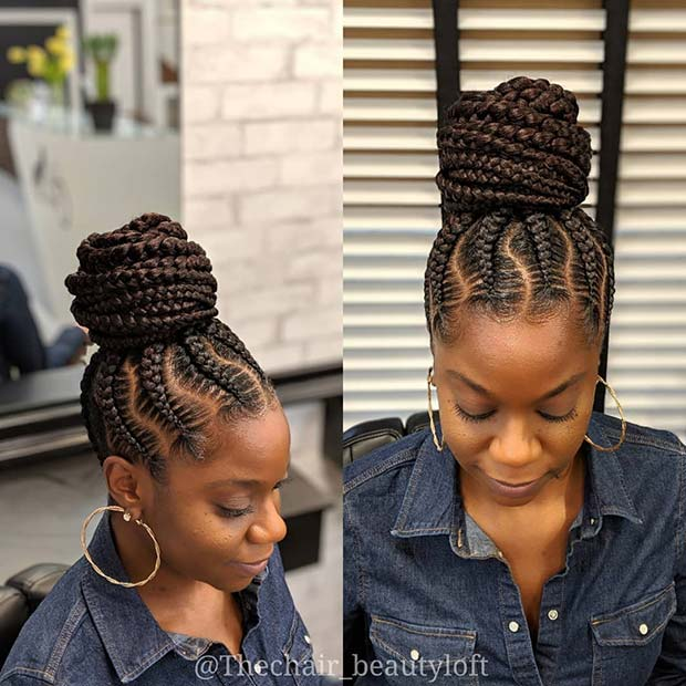 23 Braided Bun Hairstyles for Black Hair | Page 2 of 2 | StayGlam