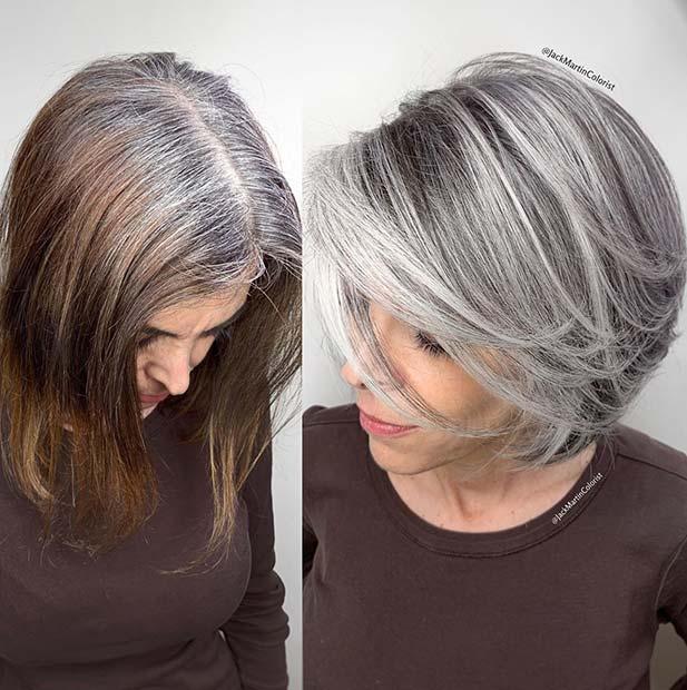Natural Looking Grey Color