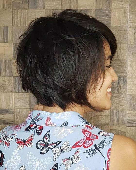 Textured Short Bob Haircut