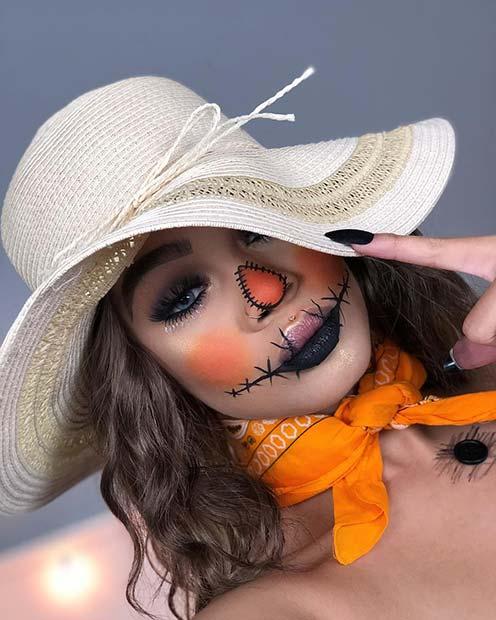Trendy Scarecrow Makeup Idea