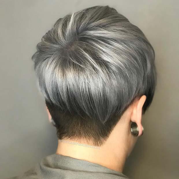 Trendy Short Grey Cut