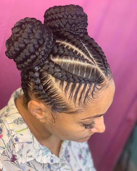 23 Braided Bun Hairstyles For Black Hair