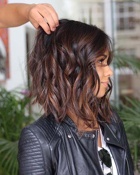 Wavy Short Bob with Highlights