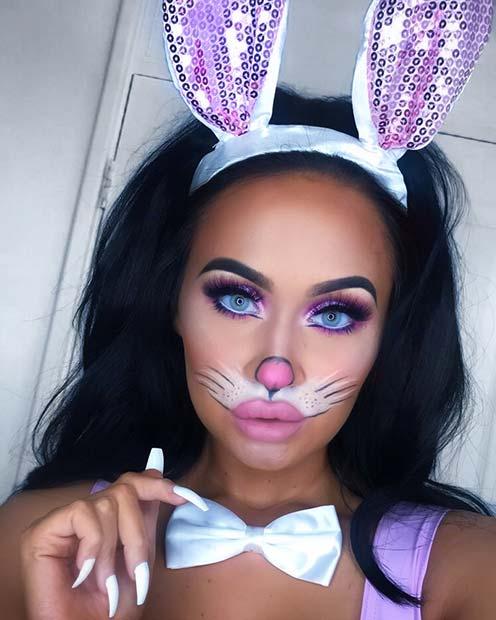 Adorable Bunny Makeup for Halloween