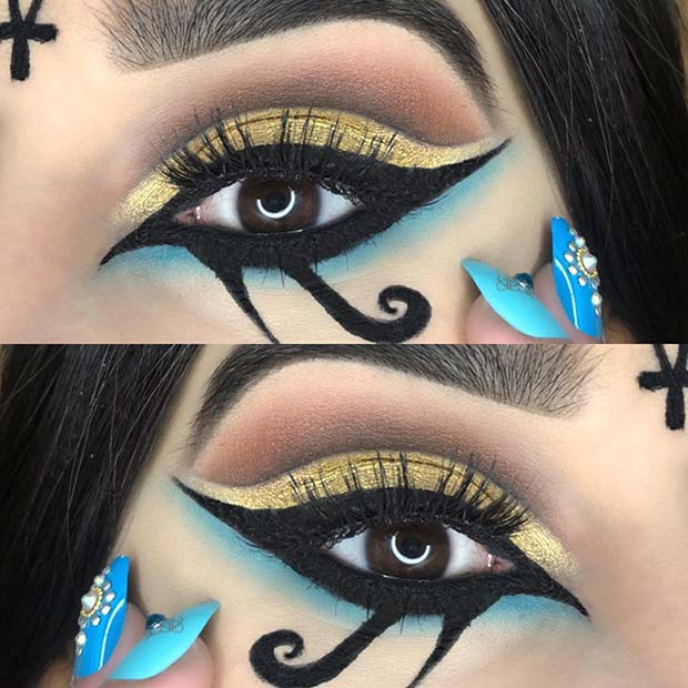 Ancient Egyptian Inspired Eye Makeup