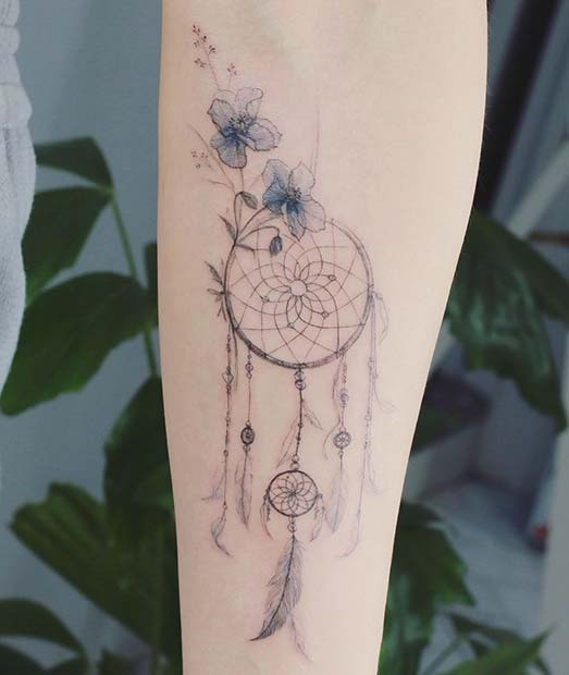 Beautiful Dream Catcher Tattoo