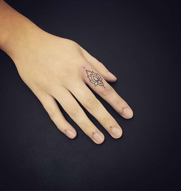 Beautiful Finger Tattoo Idea
