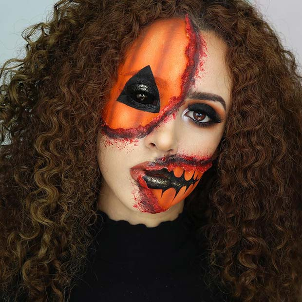 Bloody Illusion Pumpkin Makeup
