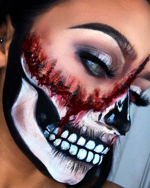 43 Cool Skeleton Makeup Ideas To Try For Halloween Page