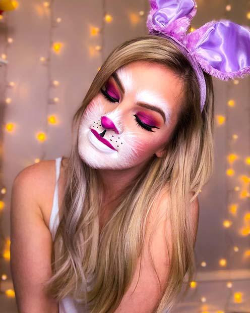 Bright Bunny Makeup