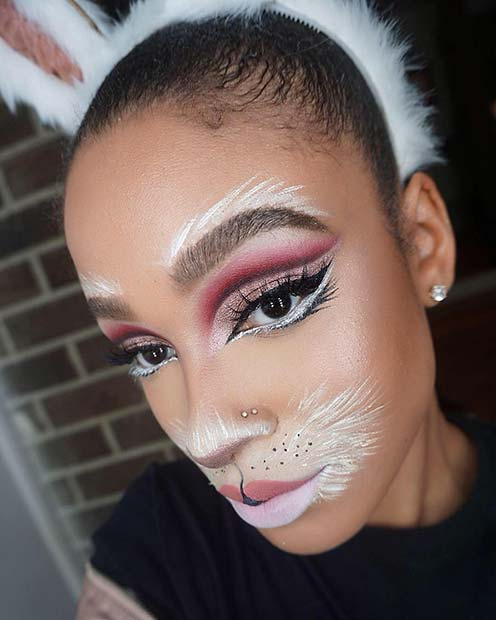 Bunny Makeup with Glam Eyes