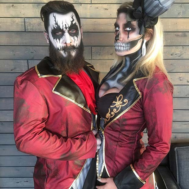 Circus Skeletons Couples Costume