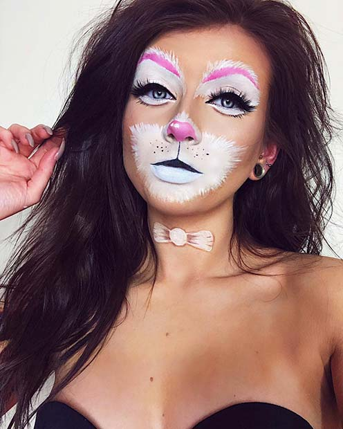 Classic White Rabbit Makeup