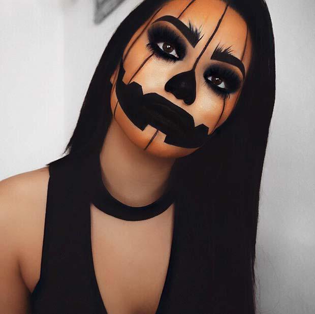 Simple Pumpkin Makeup