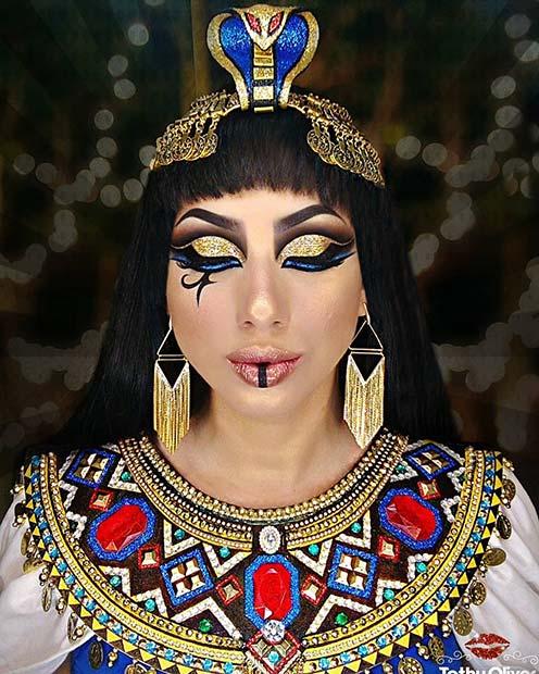 Colorful Cleopatra Makeup