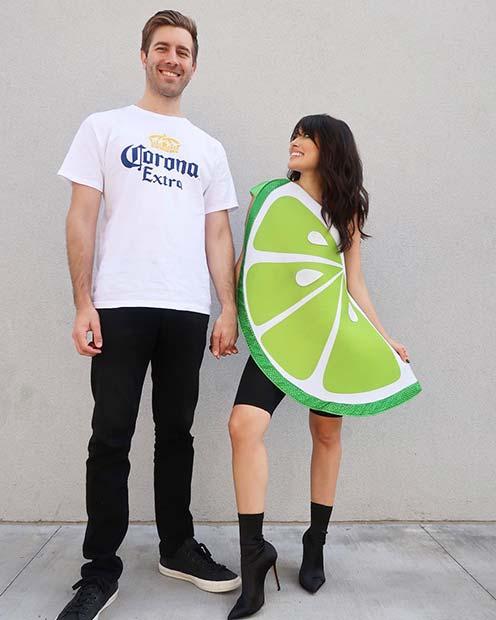 Creative Corona and Lime Wedge Costume
