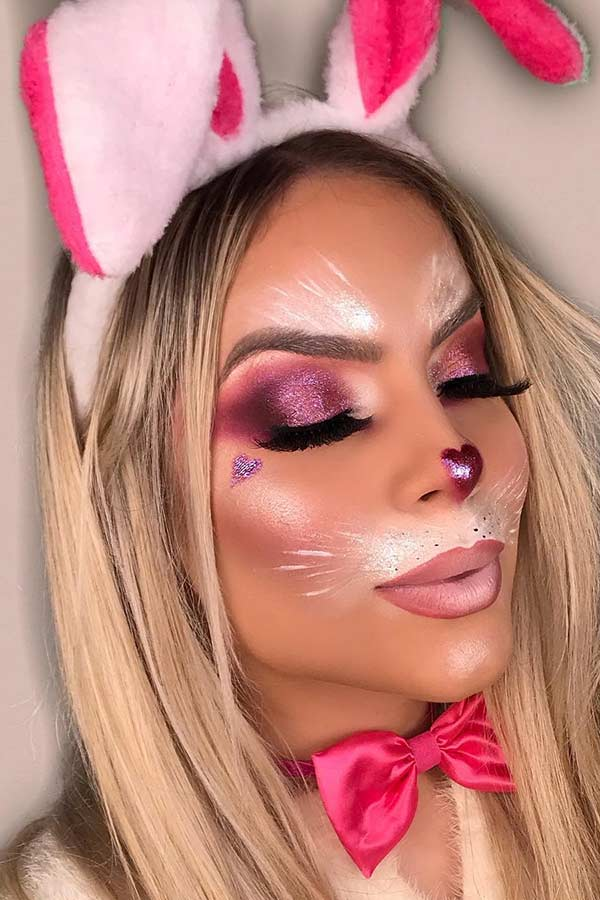 Cute Bunny Makeup for Halloween