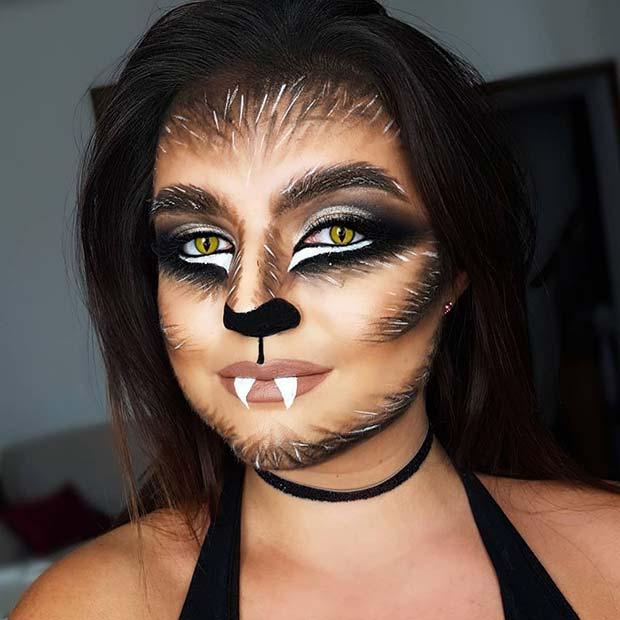 Cute DIY Werewolf Makeup