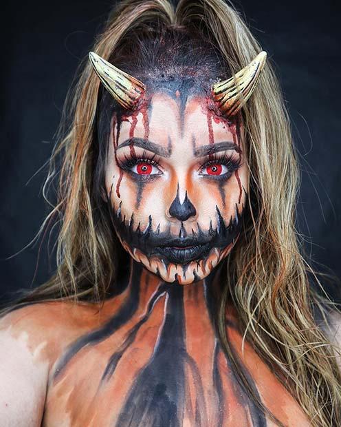 Demon Pumpkin Halloween Costume