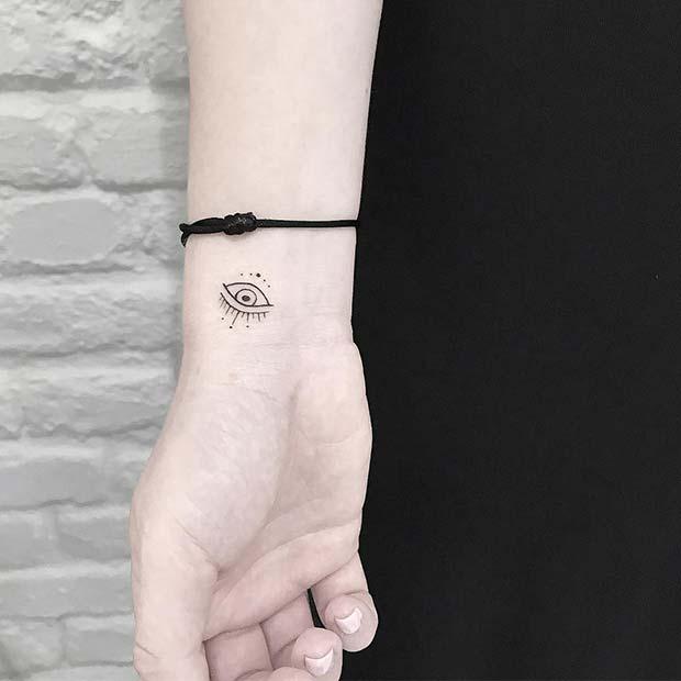 Small Evil Eye Tattoo