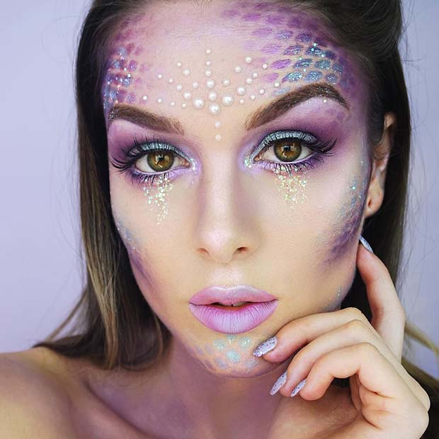 Mermaid Face Makeup
