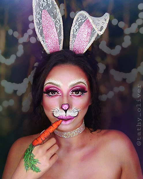 Bunny with Illusion Makeup
