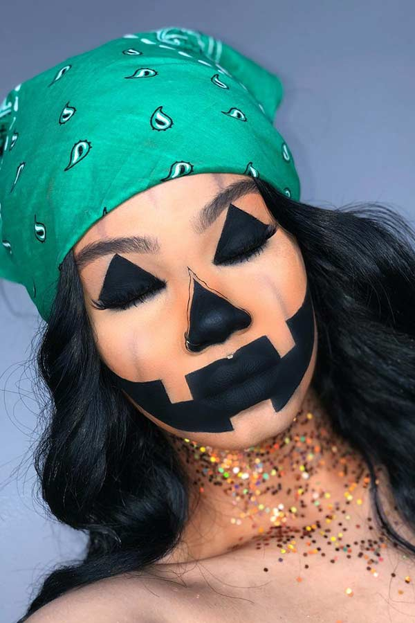 Jack-o'-Lantern Makeup Look